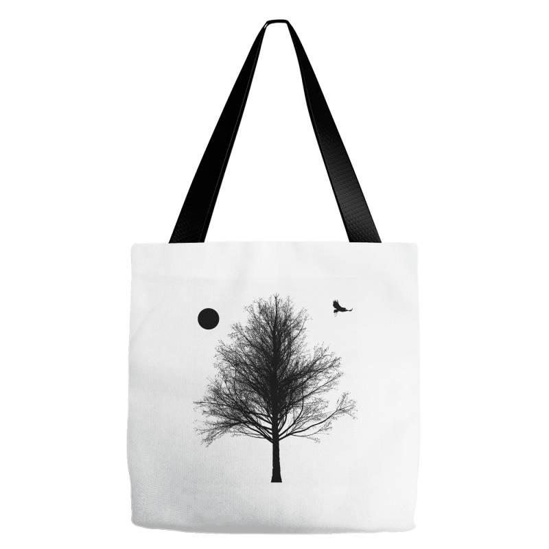Tree, Eagle Silhouette Calmness Nature Tote Bags | Artistshot