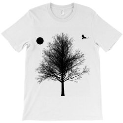Tree, Eagle Silhouette Calmness Nature T-Shirt | Artistshot