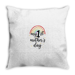 My First Mother's Day Throw Pillow | Artistshot