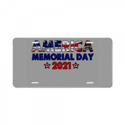 America Memorial Day 2021 License Plate | Artistshot