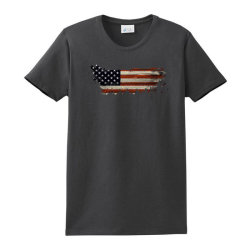 American Flag Ladies Classic T-shirt Designed By Akin