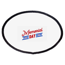 Memorial Day Oval Patch Designed By Akin