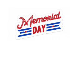 Memorial Day Sticker Designed By Akin