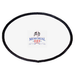 Memorial Day America Oval Patch Designed By Akin