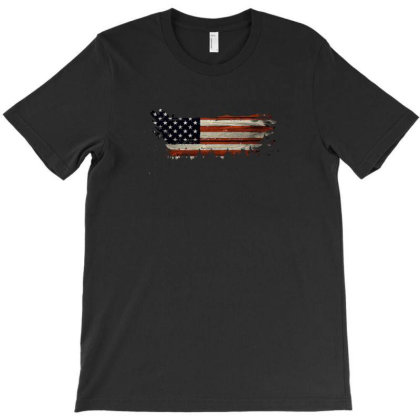 American Flag T-shirt Designed By Akin