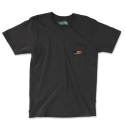 American Flag Pocket T-shirt Designed By Akin