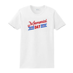 Memorial Day Ladies Classic T-shirt Designed By Akin
