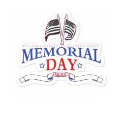 Memorial Day America Sticker Designed By Akin