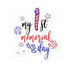 My First Memorial Day Sticker Designed By Akin