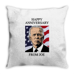 happy anniversary from joe Throw Pillow | Artistshot