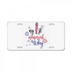 My First Memorial Day License Plate | Artistshot