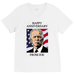 happy anniversary from joe V-Neck Tee | Artistshot