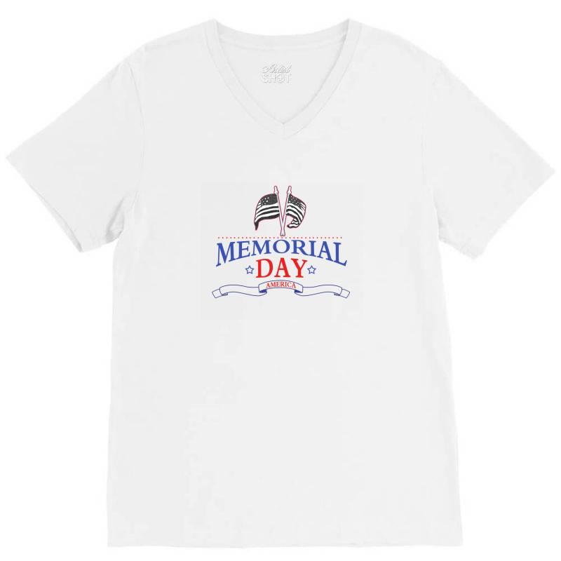 Memorial Day America V-neck Tee | Artistshot