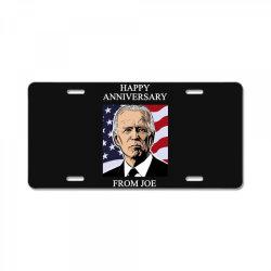 happy anniversary from joe License Plate | Artistshot