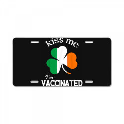 kiss me i'm vaccinated License Plate | Artistshot