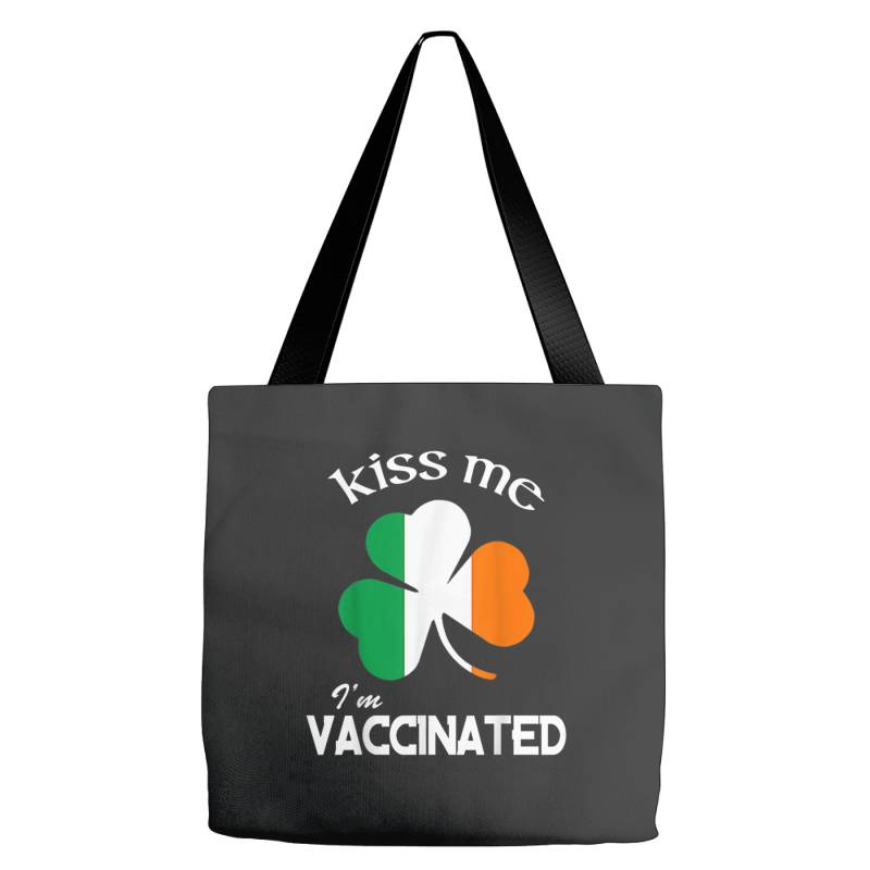 Kiss Me I'm Vaccinated Tote Bags | Artistshot