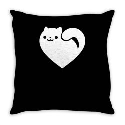 cats heart funny Throw Pillow | Artistshot