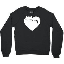 cats heart funny Crewneck Sweatshirt | Artistshot