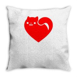 cats heart Throw Pillow | Artistshot