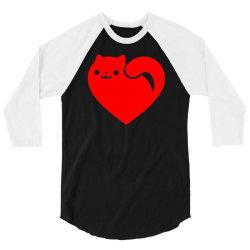 cats heart 3/4 Sleeve Shirt | Artistshot