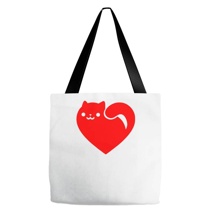 Cats Heart Tote Bags | Artistshot
