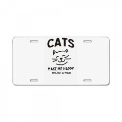 cats make me happy License Plate | Artistshot