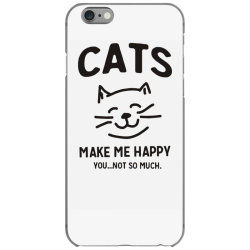cats make me happy iPhone 6/6s Case | Artistshot