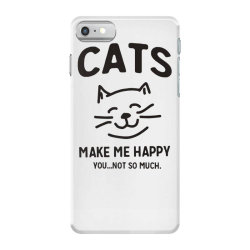 cats make me happy iPhone 7 Case | Artistshot