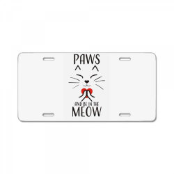cats meditation mindfulness funny animal License Plate | Artistshot