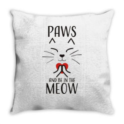 cats meditation mindfulness funny animal Throw Pillow | Artistshot
