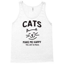 cats make me happy Tank Top | Artistshot