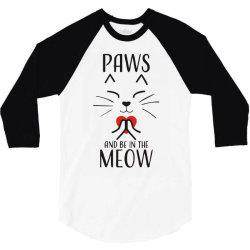 cats meditation mindfulness funny animal 3/4 Sleeve Shirt | Artistshot