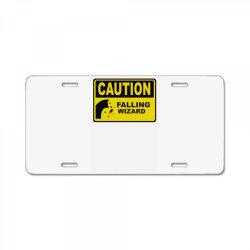 caution falling wizards License Plate | Artistshot