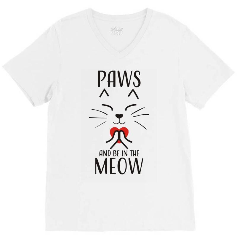 Cats Meditation Mindfulness Funny Animal V-neck Tee | Artistshot