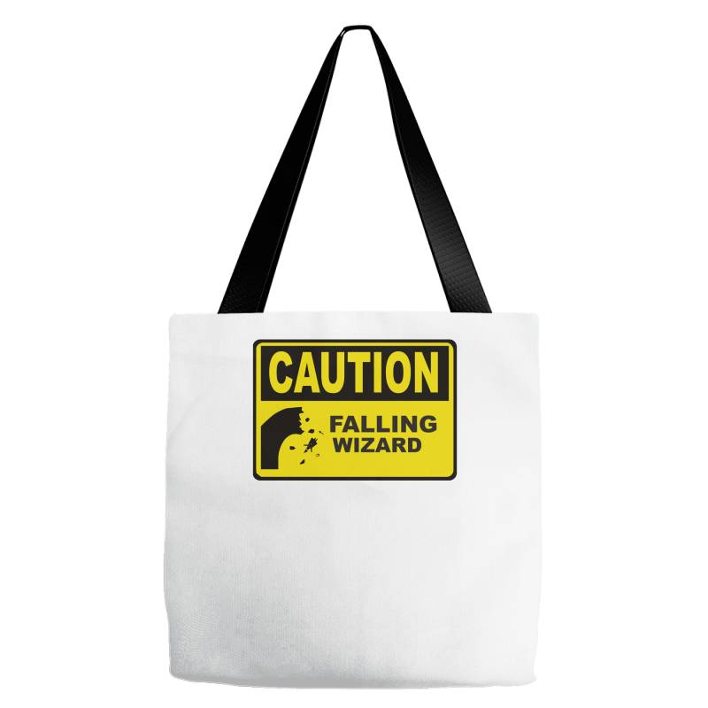 Caution Falling Wizards Tote Bags | Artistshot