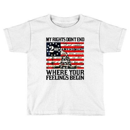 2nd Amendment Usa Flag Toddler T-shirt Designed By Mirazjason