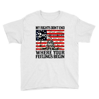 2nd Amendment Usa Flag Youth Tee Designed By Mirazjason