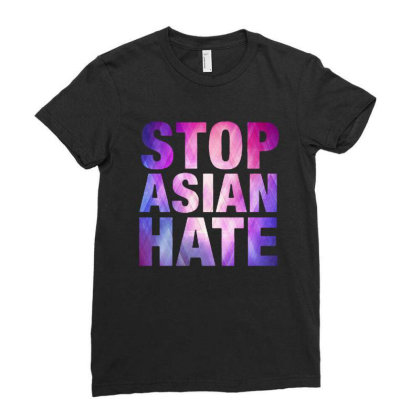 Stop Asian Hate Ladies Fitted T-shirt Designed By Syakirra
