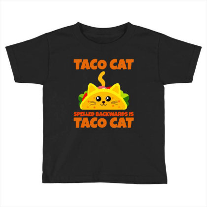 Tacocat Spelled Backwards Taco Cat Toddler T-shirt Designed By Papa Boutique
