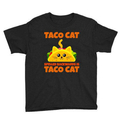 Tacocat Spelled Backwards Taco Cat Youth Tee Designed By Papa Boutique
