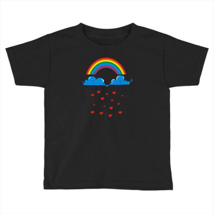 Clouds Rainbow Toddler T-shirt Designed By Dony_store