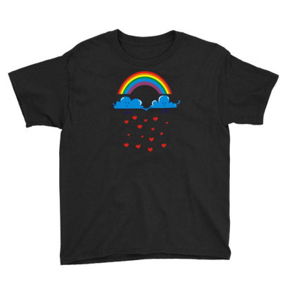 Clouds Rainbow Youth Tee Designed By Dony_store