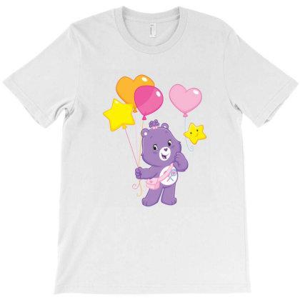 Rainbow Purple Bear Care Bear T-shirt Designed By Şen