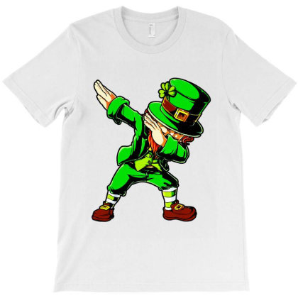St Patricks Day Dabbing Leprechaun T-shirt Designed By Mirazjason