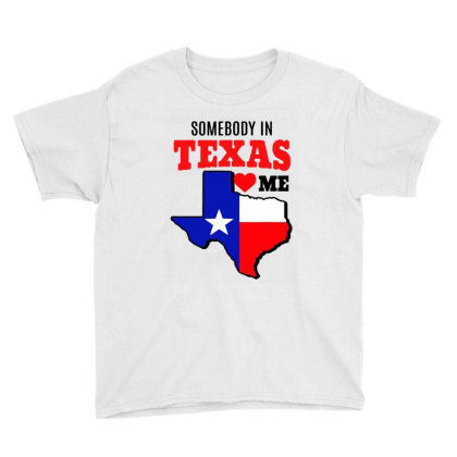 State Of Texas Somebody Loves Me Youth Tee Designed By Mirazjason