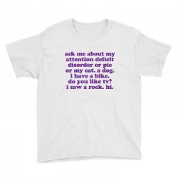 Funny Adhd Quote Youth Tee Designed By Jomadado