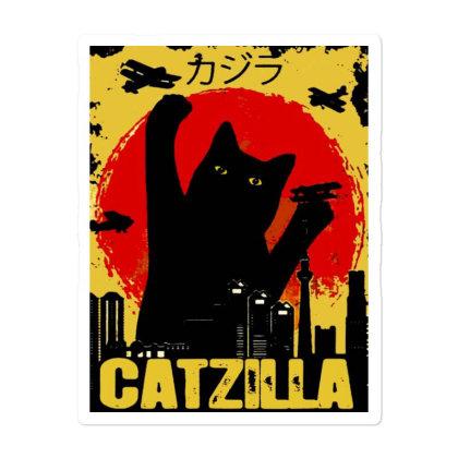 Vintage Catzilla Tee Sticker Designed By Mirazjason