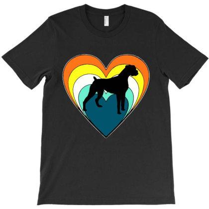 Vintage Boxer Dog Heart Valentines Day Boys Girls T-shirt Designed By Mirazjason