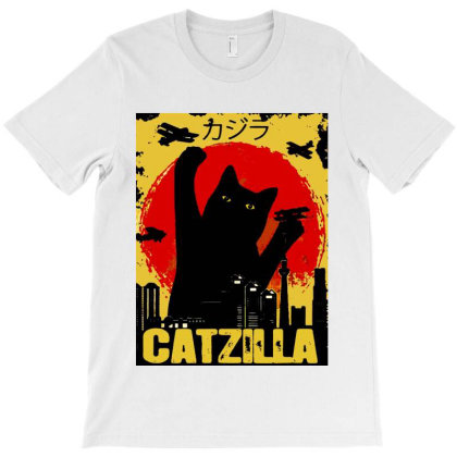 Vintage Catzilla Tee T-shirt Designed By Mirazjason