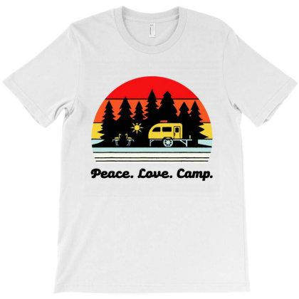 Vintage Retro Peace Love Camp T-shirt Designed By Mirazjason